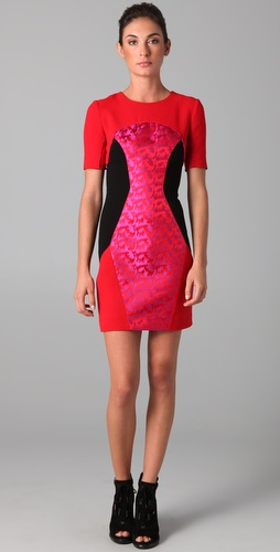 Matthew Williamson Paneled Mini Dress