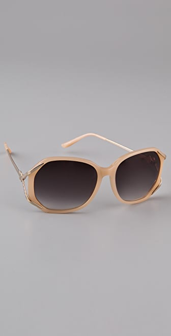 Matthew Williamson Acetate Rounded Sunglasses