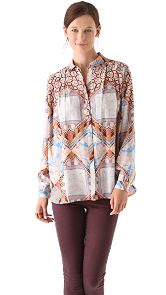 Matthew Williamson Tile Print Blouse