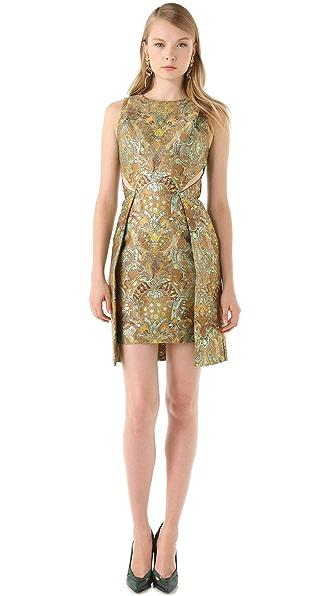 Matthew Williamson Brocade Cutout Dress