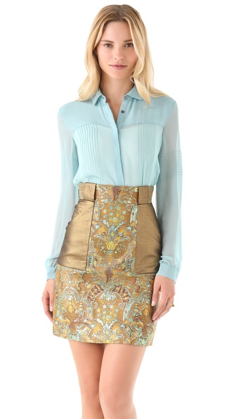Matthew Williamson Pintuck Blouse