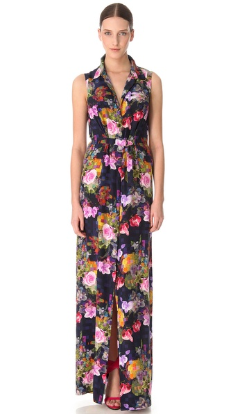 Matthew Williamson Floor Length Shirtdress