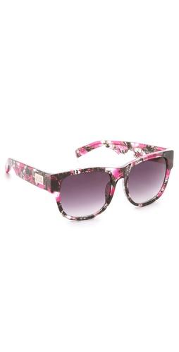 Matthew Williamson Printed Curved Square Sunglasses