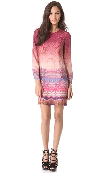Matthew Williamson Long Sleeve Shift Dress