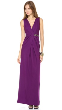 Matthew Williamson Twisted Drape Column Gown