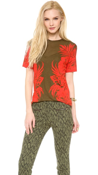 Matthew Williamson Leaf Print T Shirt
