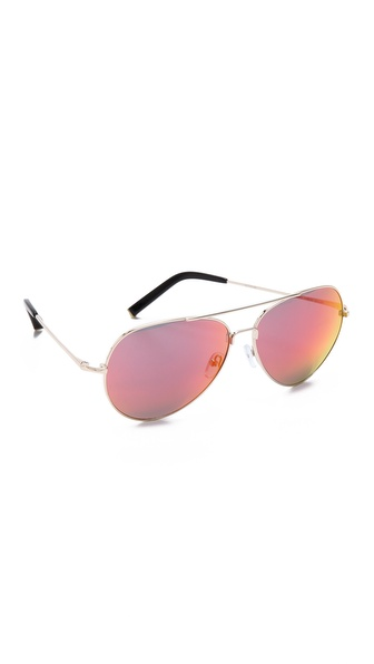 Matthew Williamson Mirrored Aviator Sunglassess