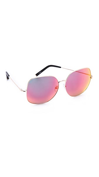 Matthew Williamson Mirrored Oversized Sunglasses