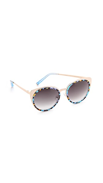 Matthew Williamson Printed Cat Eye Sunglasses