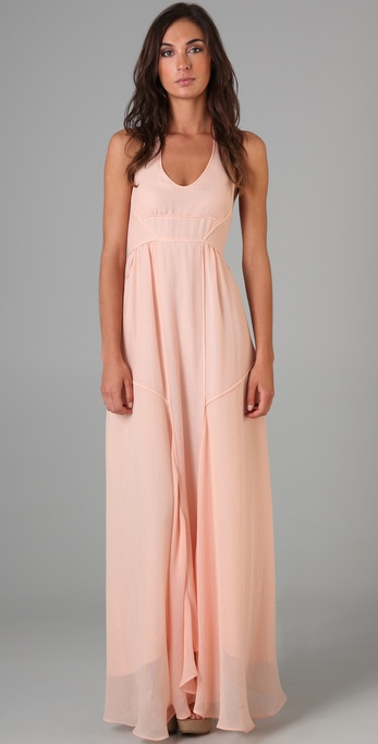 MAXAZRIA Halter Long Dress