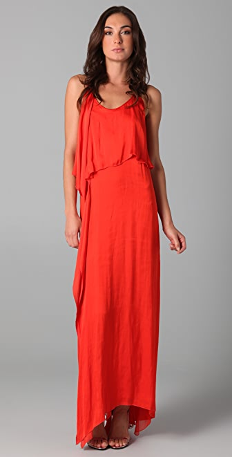 MAXAZRIA Satin Cocktail Dress