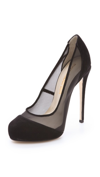 Max Kibardin Abba Mesh Platform Pumps