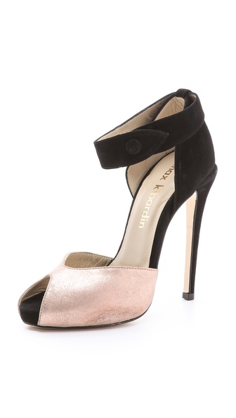 Max Kibardin Iruwa Peep Toe Suede Pumps