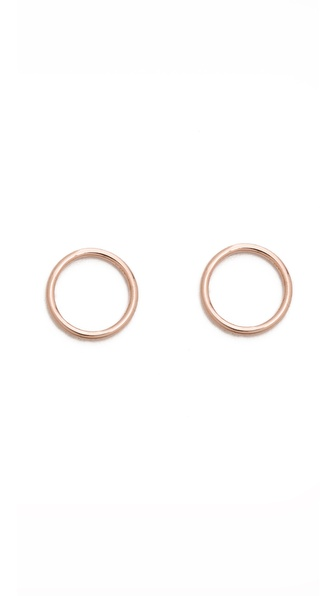 Maria Black Mono Circle Earrings
