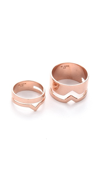 Maria Black Fooled Heart Detour Ring Set