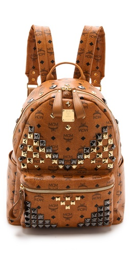 MCM Stark M Stud Med Backpack at Shopbop / East Dane
