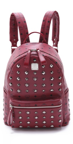 MCM Stark Allover Stud Med Backpack at Shopbop / East Dane