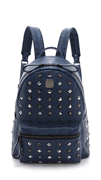MCM Stark Allover Stud Med Backpack