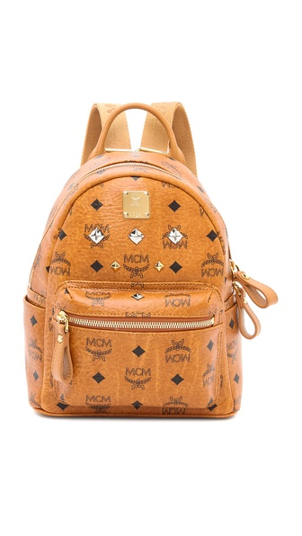 MCM Stark Sprinkle Stud Mini Backpack