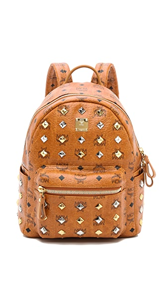 MCM Stark All Over Stud Small Backpack