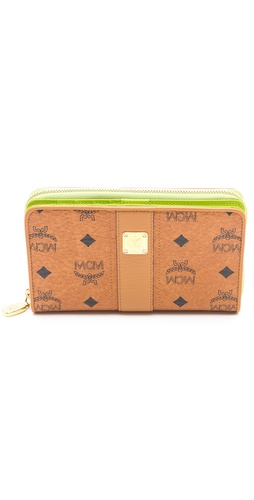 MCM Visetos Vintage Large Zip Wallet at Shopbop / East Dane