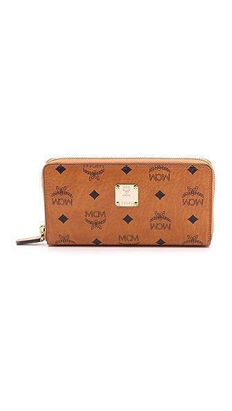 MCM Zipped Wallet