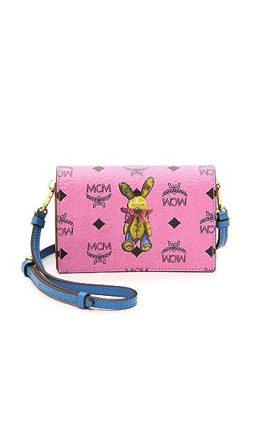 MCM 兔子印花斜背包