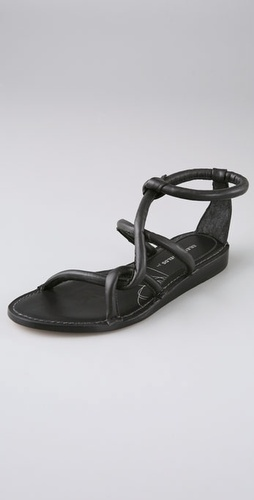 Eileen Shields for Zero + Maria Cornejo Tubular Flat Sandals