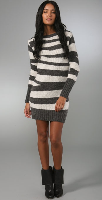 McQ - Alexander McQueen Zebra Sweater Dress