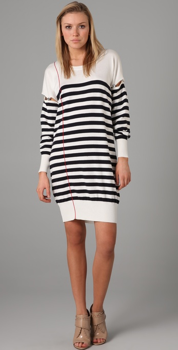 McQ - Alexander McQueen Stripe Sweater Dress