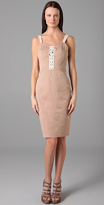 McQ - Alexander McQueen Lace Up Dress