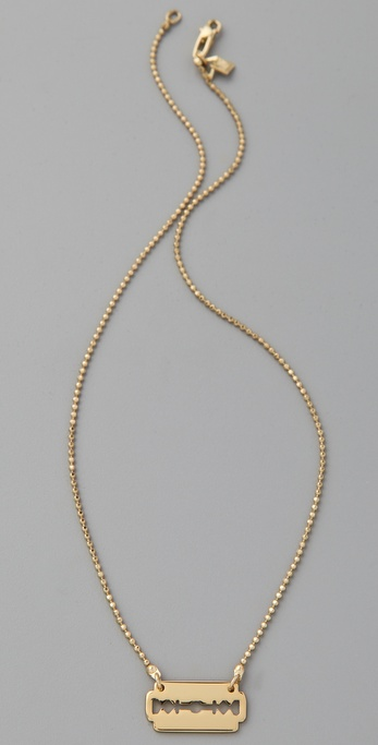 McQ - Alexander McQueen Mini Razor Necklace