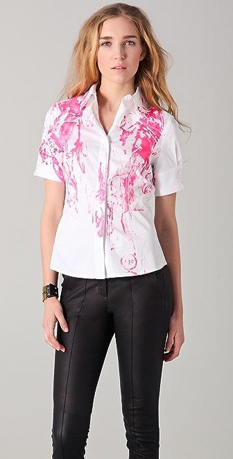 McQ - Alexander McQueen Printed Button Down Shirt
