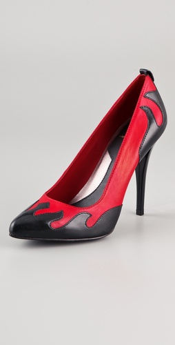 McQ - Alexander McQueen Flame Court Pumps