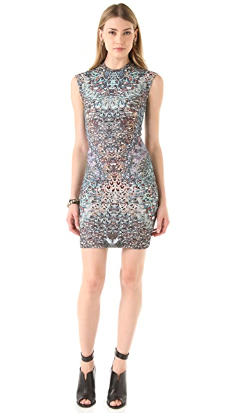 McQ - Alexander McQueen Cap Sleeve Printed Dress