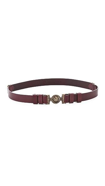 McQ - Alexander McQueen Medallion Buckle Belt