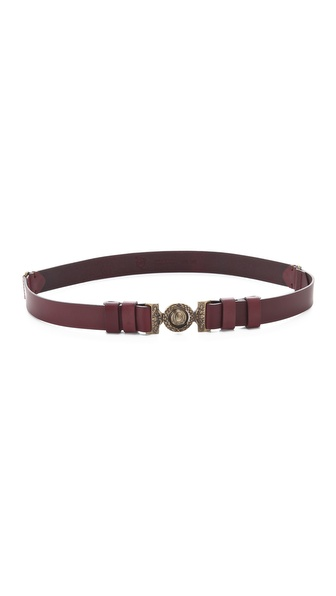 McQ - Alexander McQueen Medallion Buckle Belt