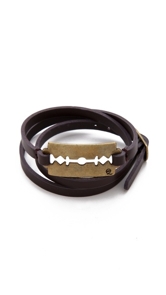 McQ - Alexander McQueen Leather Razor Wrap Bracelet