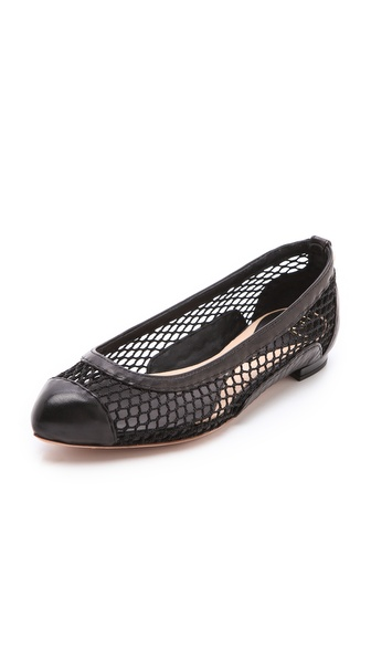 McQ - Alexander McQueen Cap Toe Mesh Flats