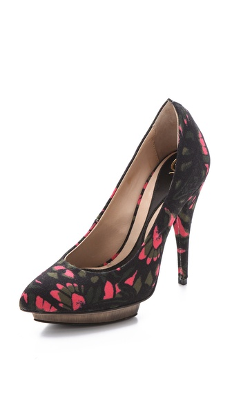 McQ - Alexander McQueen Printed Point Toe Pumps