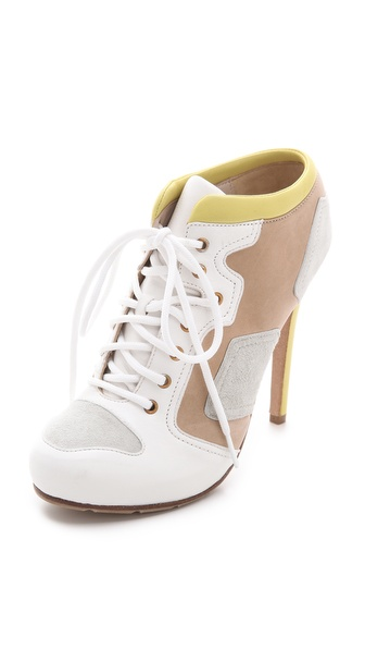 McQ - Alexander McQueen Neon Trimmed Booties