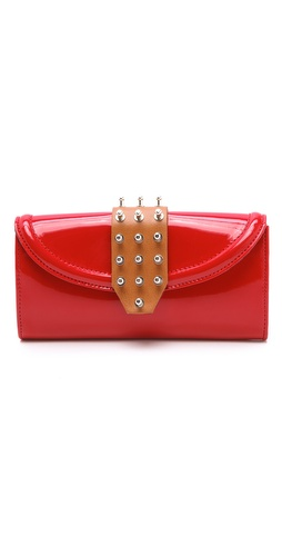 McQ - Alexander McQueen Collar Stud Flap Wallet at Shopbop.com