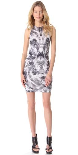 McQ - Alexander McQueen Sleeveless Iris Print Dress