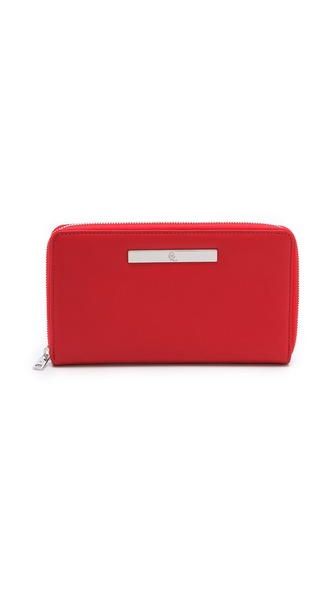 McQ - Alexander McQueen Metal Plate Large Zip Wallet