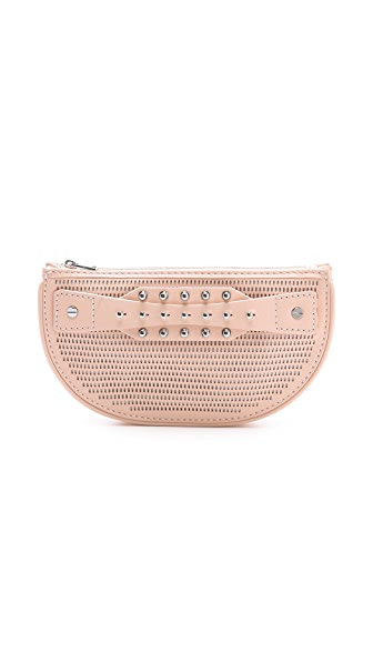McQ - Alexander McQueen Perforated Collar Stud Mini Clutch