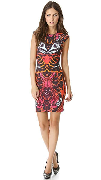 McQ - Alexander McQueen Interlock Cap Sleeve Dress