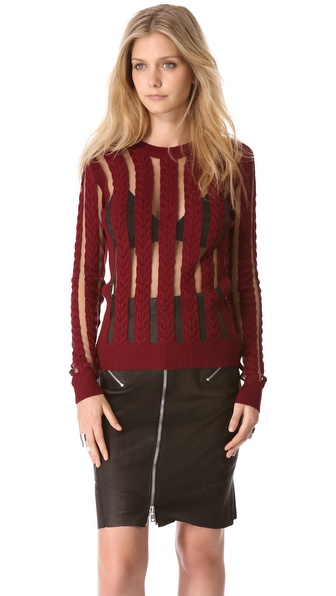 McQ - Alexander McQueen Sheer Panel Sweater
