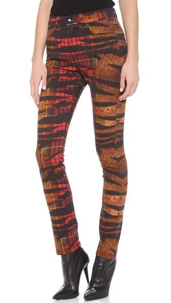 McQ - Alexander McQueen Tiger Tartan Jeans