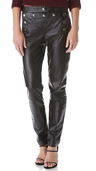 McQ - Alexander McQueen Marine Leather Pants