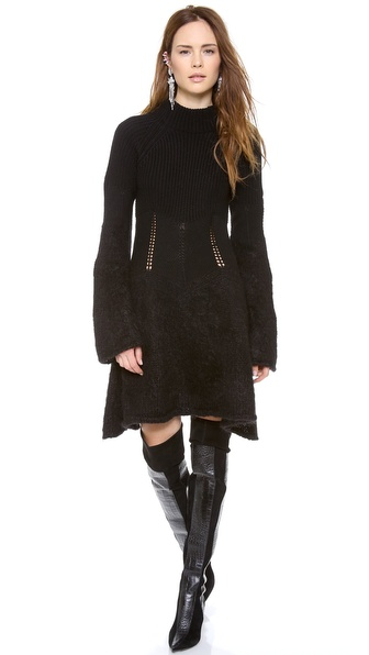 McQ - Alexander McQueen Degrade Mohair Dress